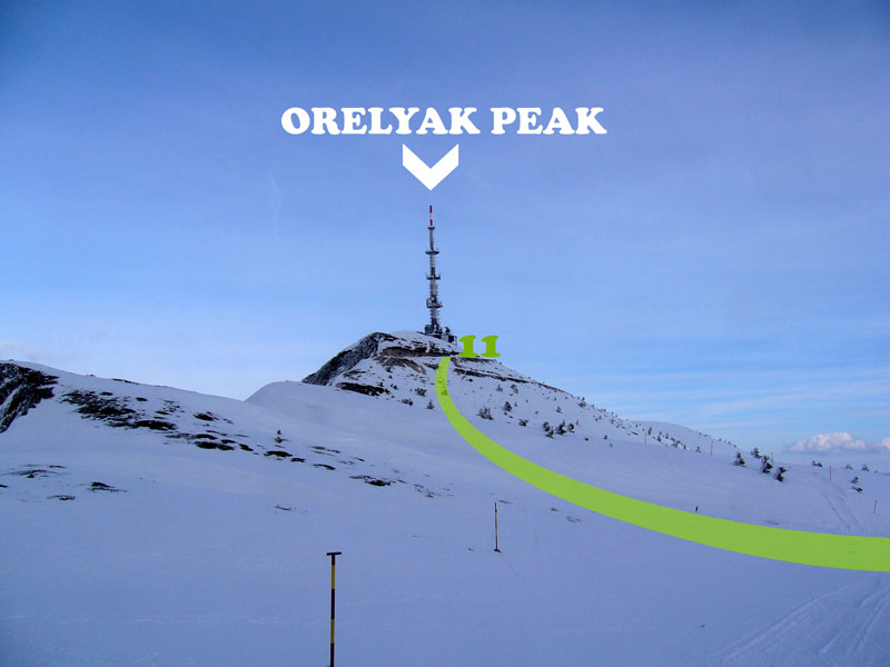 South side of Orelyak peak