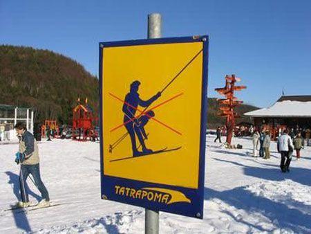 ski sign joke
