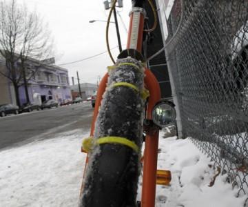Как да си караме колелото на сняг?