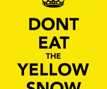 Кога може да ядем жълтия сняг?